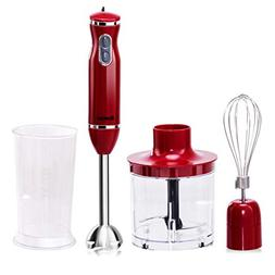 Costway 4-in-1 Hand Blender 300W 2-Speed Electric Multifunct