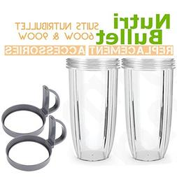 2 Pack Accessories Part for Nutribullet,Nutribullet 32oz Hug