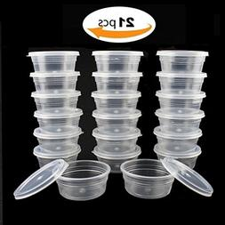 21 Packs Slime Storage Containers 20g food oz plastic small