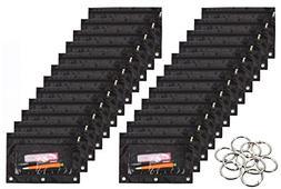 WODISON 24 Packs 3 Ring Binder Pen Pencil Case Pouch Bulk Se