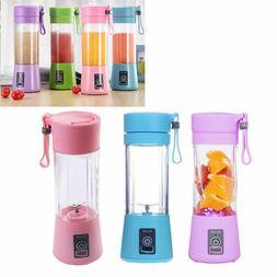 380ml Portable Blenders Mini USB Electric Fruit Juicer Bottl
