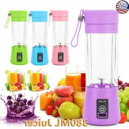 380ML NEW Portable Blender USB Rechargeable Fruit Juicer Cup