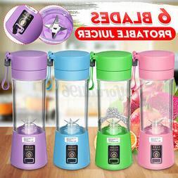 380ml Portable Blender USB Juicer Cup Fruit Mixing Machine R