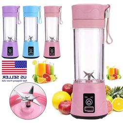 380ml Portable Blender USB Rechargeable Juicer Cup Smoothies