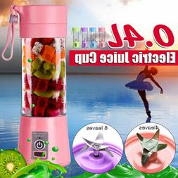 400ML Portable Blender USB Juicer Cup Fruit Mixing Machine R