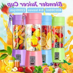 400ML Portable Electric Juicer Mixer Cup USB Rechargeable Pe