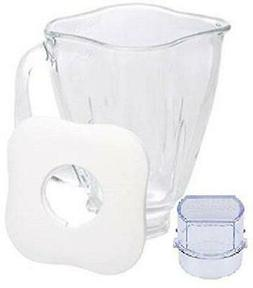 Oster 4918 5-Cup Glass Jar with Lid and Filler Cap Blender A