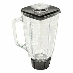 5 Cup Square Top 6 Piece Complete Glass Jar Replacement Set,