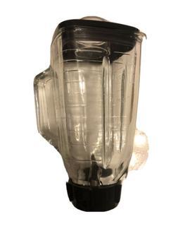 Blenpar 5 Cup Square Top 6 Piece Complete Glass Jar Replacem