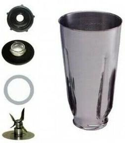 Univen 5 Cup Stainless Steel Complete Blender Jar fits Oster