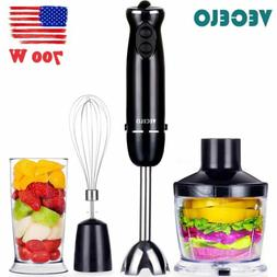 700W 4 in 1 Electric Immersion Hand Blender Set 6 Speed Kitc