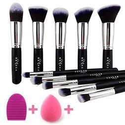 BEAKEY Makeup Brush Set Premium Synthetic Kabuki Foundation