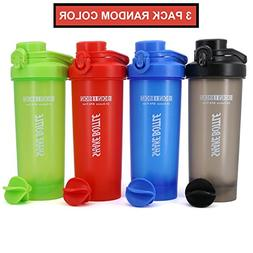 AUTO-FLIP Shaker Bottle Blender for Protein Powder, Water Sm