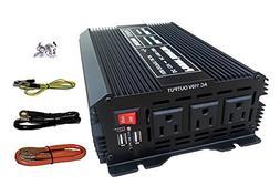 Tektrum Automotive 1500W Power Inverter 12V DC to 110V AC, 3