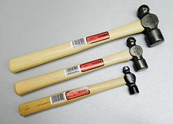 BALL PEEN HAMMERS SET 3 HAMMER 2oz 4oz 8oz FORGED MADE IN US
