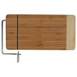 Home-X - Bamboo Cheese Cutting Board with Stainless Steel Wi