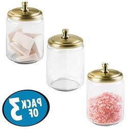 mDesign Storage Organizer Canisters, Apothecary Jar for Bath