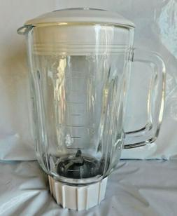 BLACK & DECKER 6 CUP GLASS BLENDER JAR with Blade and Lid