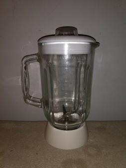 Black & Decker Blender Glass Jar 42 oz 5 cup & White Collar