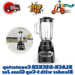 BLACK+DECKER Countertop Blender with 5-Cup Glass Jar, 10-Spe