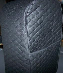 Black Quilted Fabric 2 Pocket Cover for VitaMix Blender Mach