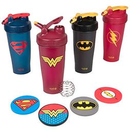 Blender Bottle DC Comics Set of Four 28 oz Bottles with Just