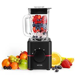 Blender with Glass Jar by BESTEK- UL Certified, BPA Free 550