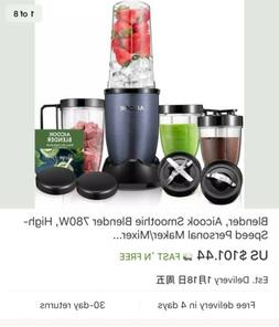 Blender, Aicook Smoothie Blender 780W, High-Speed Personal M