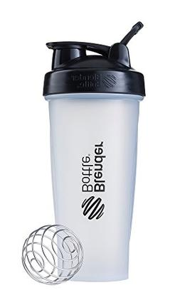 BlenderBottle Classic Loop Top Shaker Bottle, 28-Ounce, Clea