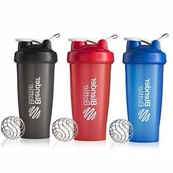 BlenderBottle 28oz Classic Loop Top Shaker Bottle 3-Pack, Fu