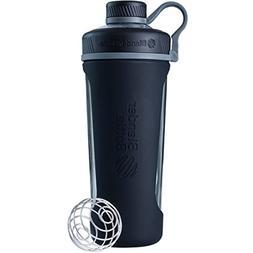 BlenderBottle Radian Glass Shaker Bottle, Black, 28-Ounce