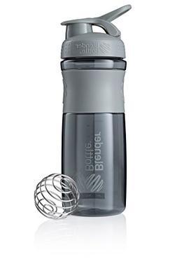 BlenderBottle SportMixer Tritan Grip Shaker Bottle, Pebble G