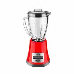 Oster BLSTMG Red 8 Speed 6-Cup Glass Jar Blender, 220 Volts