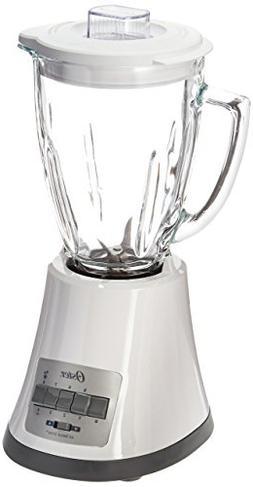 Oster BLSTMG White 8 Speed 6-Cup Glass Jar Blender, 220 Volt
