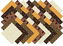 "Brown Blender Charm Pack 40 Precut 5"" Quilting Fabric Square"