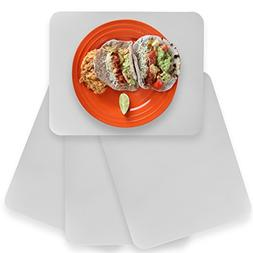 Home-X Translucent Placemats , Reusable and Easy-To-Clean Pl