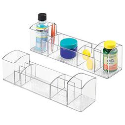 mDesign Compact Plastic Bathroom Organizer Storage Center wi