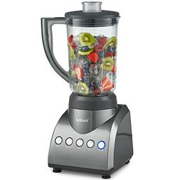 VonShef Countertop Blender and Mixer, with 6 Cup Jar, Multi-