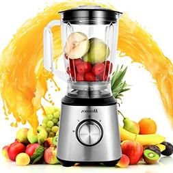 Homdox Countertop Blender 800W 60.8oz Smoothie Blenders Pers