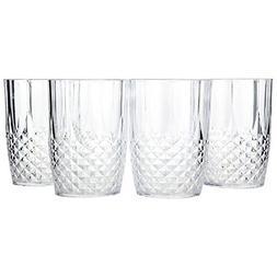 Home-X Crystal Look Plastic Tumbler Glasses. High Ball Glass