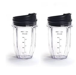 Blendin 2 Pack Small 18 Ounce Cup with Sip N Seal Flip Lids,