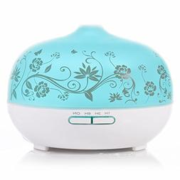 BESTEK Essential Oil Diffuser,300ml Glass Aroma Diffuser Ult