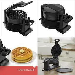 Double Belgian Waffle Maker Iron Gourmet Baker Breakfast Com