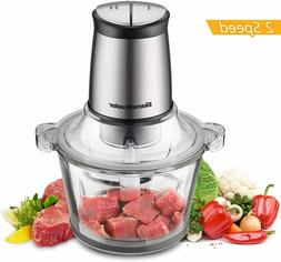 Electric Food Chopper 8-Cup Food Processor  2L BPA-Free Glas