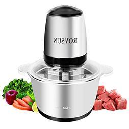 ROVSUN 8 Cup Food Processor Electric Mini Chopper 2L Stainle