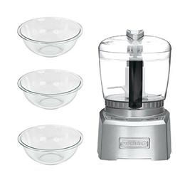 Elite Collection 4-Cup Chopper/Grinder with 3 Mixing Bowl
