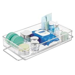 mDesign Expandable/Adjustable Plastic Bathroom Makeup Organi