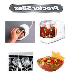 Proctor Silex Food Chopper Processor Blender Juicer White Br