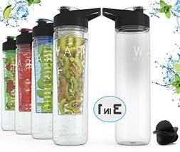 Premium Quality Raw Fountain Fruit Infused Water Bottle + Pr
