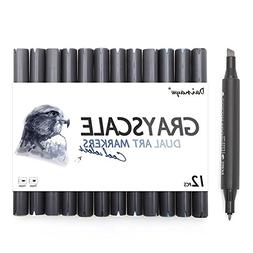 grayscale alcohol marker pens markers